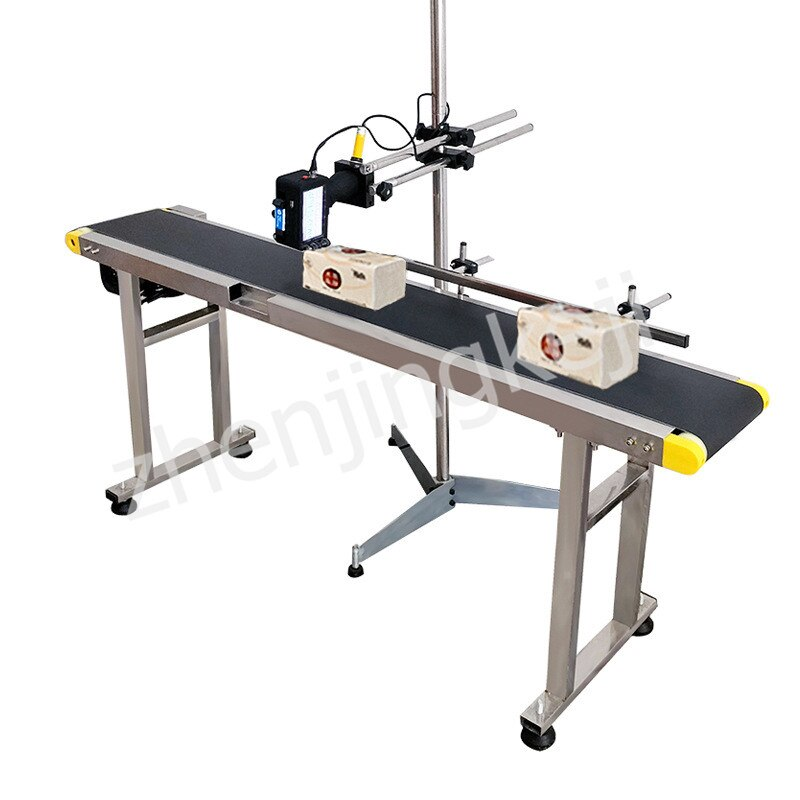 Small Online Printer Assembly Line Fully Automatic Coder Two-way Printing Adjustable High Power Conveyor Belt High Efficiency