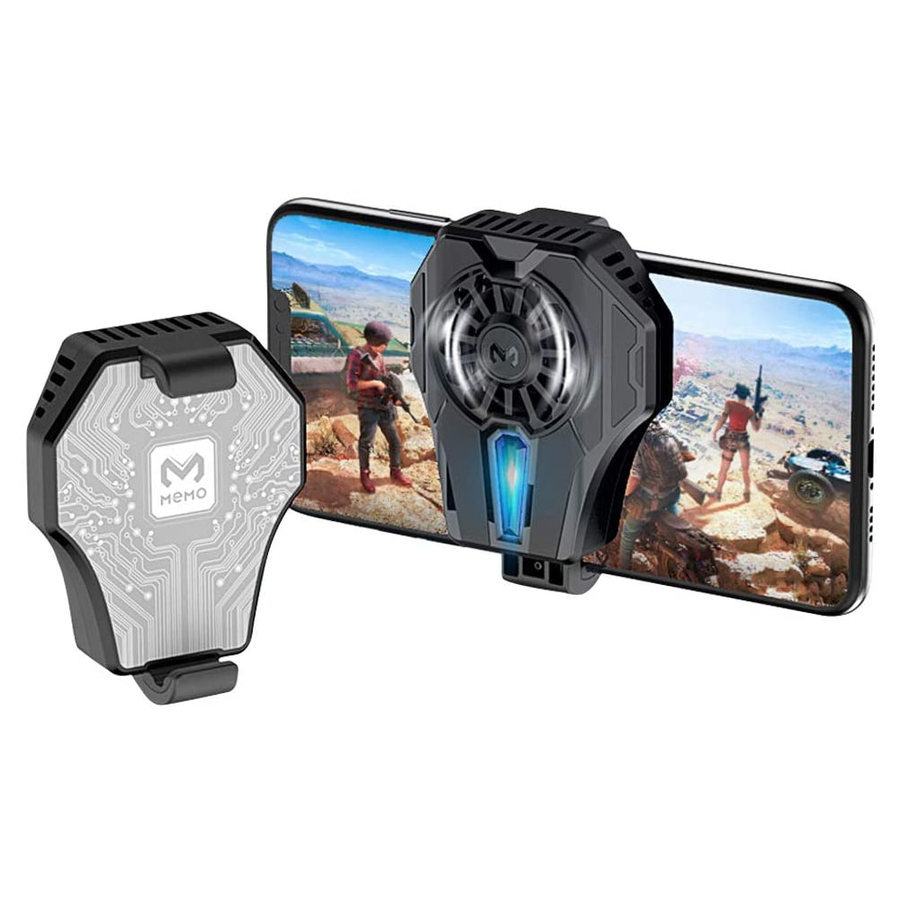 Mobile Phone Cooler Radiator Phone Cooling Fan Case Cold Wind Handle Fan For Fortnite PUGB Phone Cooler Phone Peripherals