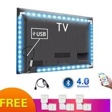 5 V LED RGB 스트립 USB 빛 방수 5050 블루투스 컨트롤러 USB 5 V 네온 Led 빛 스트립 RGB 리본 Ambilight TV 백라이트
