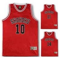 Anime Shohoku School Basketball Team Jersey 1-15 Cosplay Costume Sakuragi Hanamichi Rukawa Jersey Tops Shirt Sports Wear Uniform