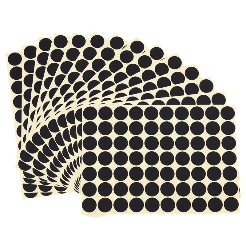 Pegatinas de código redondas de 19mm, etiquetas adhesivas autoadhesivas, negro