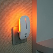 110V 220V ue Plug LED veilleuse corps capteur de mouvement lumière PIR capteur de mouvement maison intelligente lampe de nuit économie dénergie Auto marche/arrêt