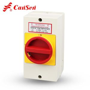 Ue 440V Ith 20A Isolating Cam Control Switch 3P With IP65 Waterproof Protective Box (CE, CCC, TUV)