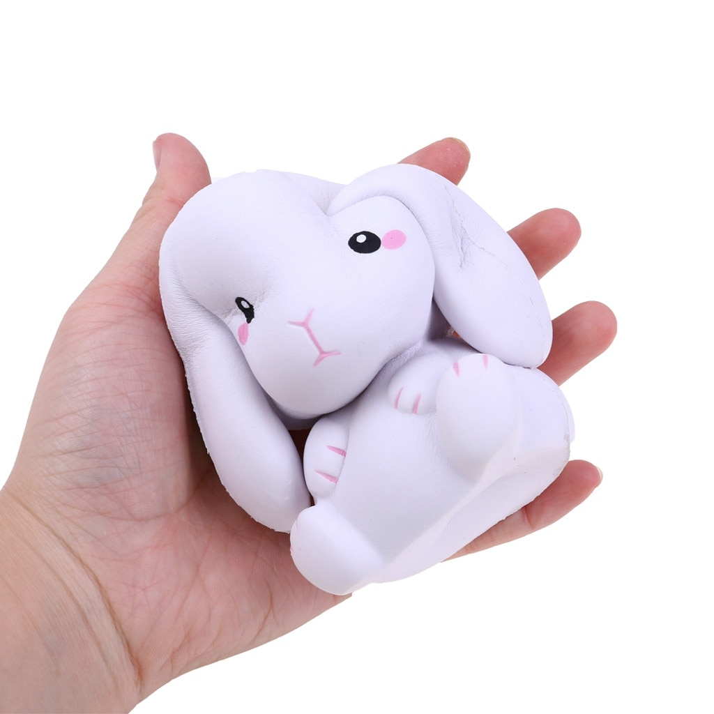 2PC Fidget Toys Kids Easter PU Rabbit Slow Rising Cream Scented Stress Relief Toys Squeeze Squishy Sensory Decompression Toy W* enlarge