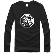 Camiseta de la serie TV Americana LOST Dharma Initiative, camiseta de manga larga de algodón para hombre, Camisetas, Camisetas Masculinas