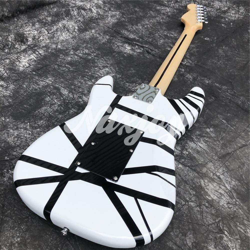 2020 Black and white Electric Guitar,The latest upgrade solid wood electric Guitarra,Maple fingerboard enlarge
