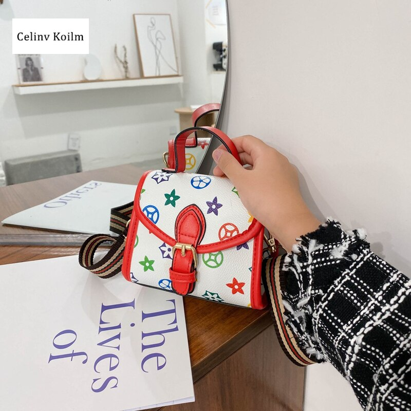 Celinv Koilm Simple And Generous, Small Fresh Bag, Handbag, New Trend, Fashion, All-Match Messenger Small Square Bag, Handbag