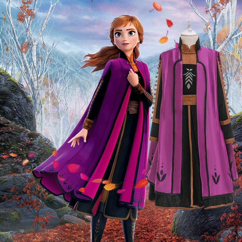 Caliente Anna, la reina de las nieves Elsa princesa disfraz Cosplay Frozen 2 vestido de fantasía personalizar Anna Elsa linda chica fiesta de navidad dress pants