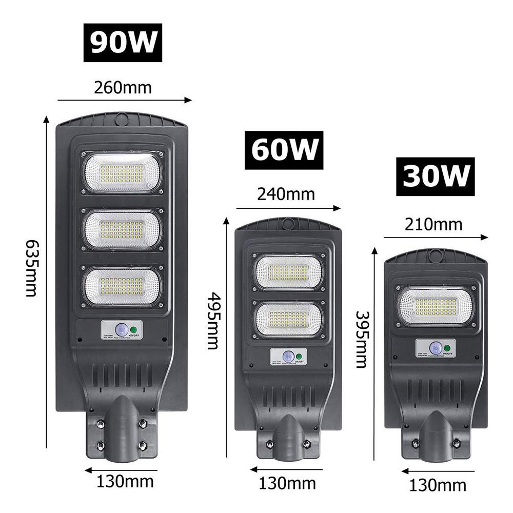 30/60/90W LED Wall Lamp IP65 Solar Street Light Radar Motion Constantly Bright Induction Solar Sensor Remote Control New O8