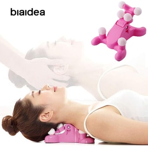 Cervical Neck Traction Massage pillow Relief Back Stretching Relax Neck Massager Relaxation Pain ruff support 3d neck massager