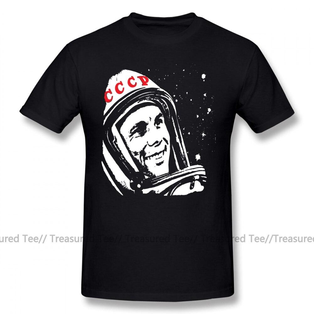 Gagarin T camisa camiseta de Yuri Gagarin 100 de algodón de manga corta Camiseta de gráfico de moda de talla grande divertido regalo para hombre