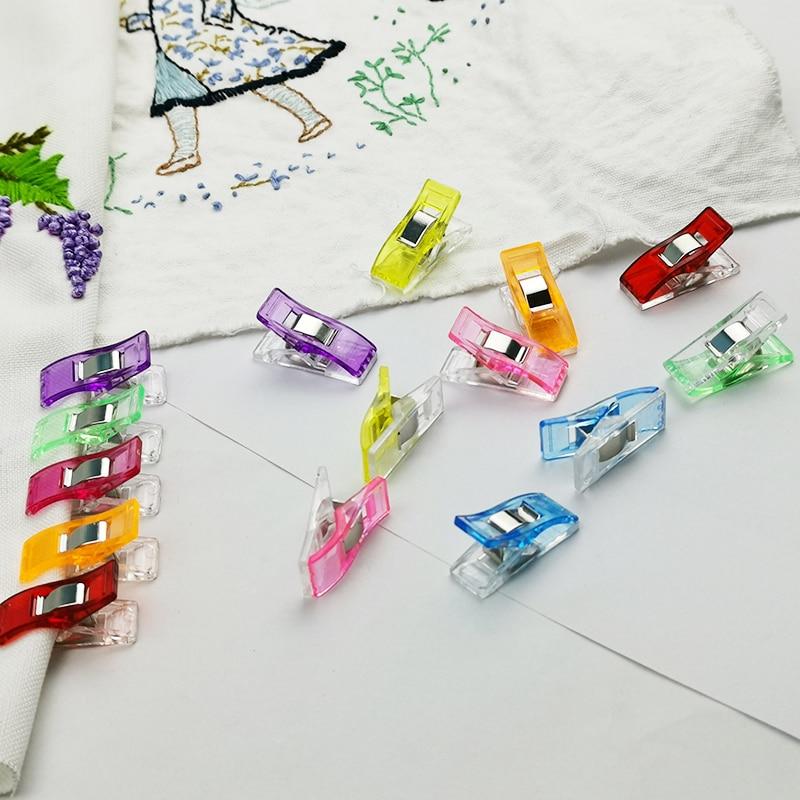 Fabricante de Fita de Viés pçs/lote 20 Caso Pé Suprimentos Clipe De Plástico Bainha Trabalho DIY Ferramentas De Costura Acessórios de Costura DIY Artesanato
