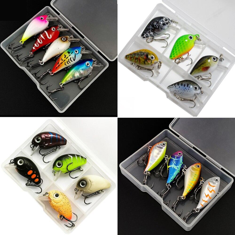 5pcs/Box 1.8g 2.5cm Mini Wobblers Crankbait Fishing Lure Baits Swimbaits Micro Crank Topwater Lures