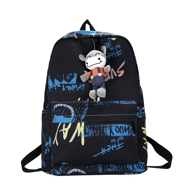 Fashion Graffiti Backpack For Women Large Capacity Waterproof Leisure Or Travel Bag Cute Cartoon School Bag for Teenage Girls
