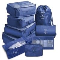 9pcs set travel organizer storage bags suitcase packing set storage cases portable luggage organizer clothes shoe tidy pouch bag