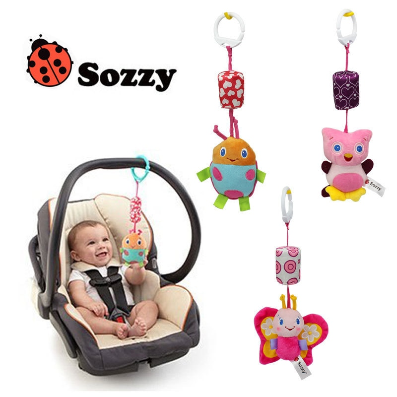 New sozzy baby toy, lathe hanging bed bell, baby rattle cartoon baby bell, bed hanging toys