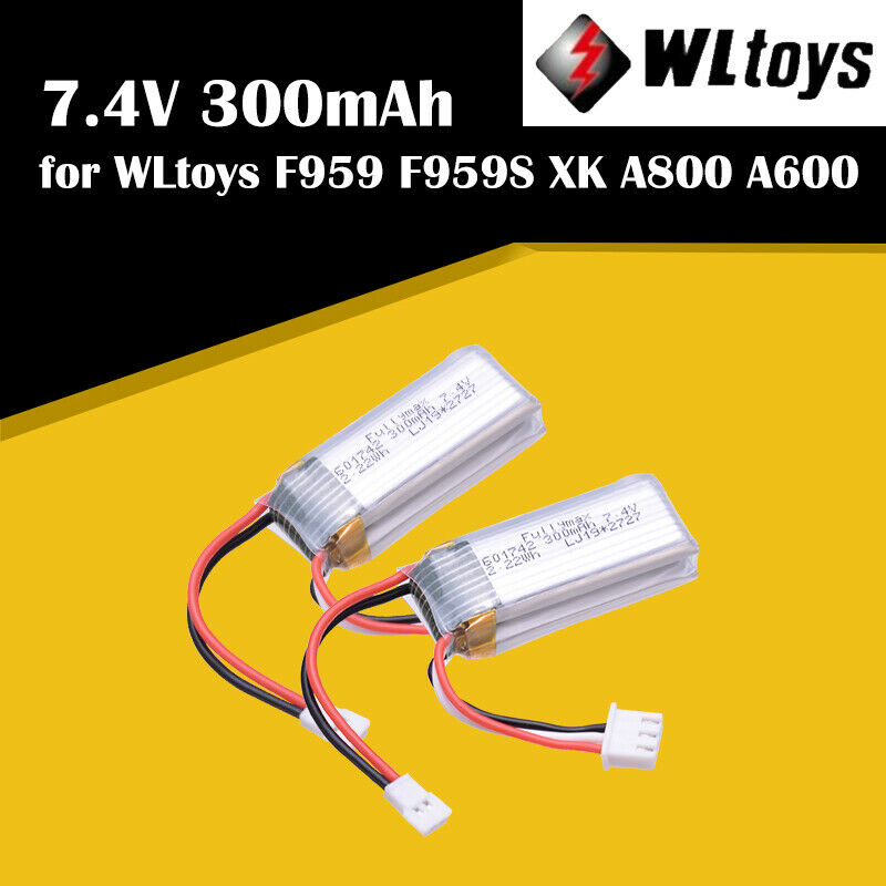 2 шт. WLtoys RC батарея самолета 7,4 V 300mAh батарея для F959 самолетов XK A800