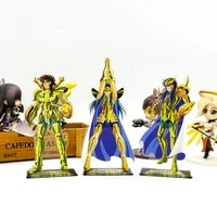 saint seiya zodiac dohko camus milo acrylic stand figure model plate holder cake topper anime japanese
