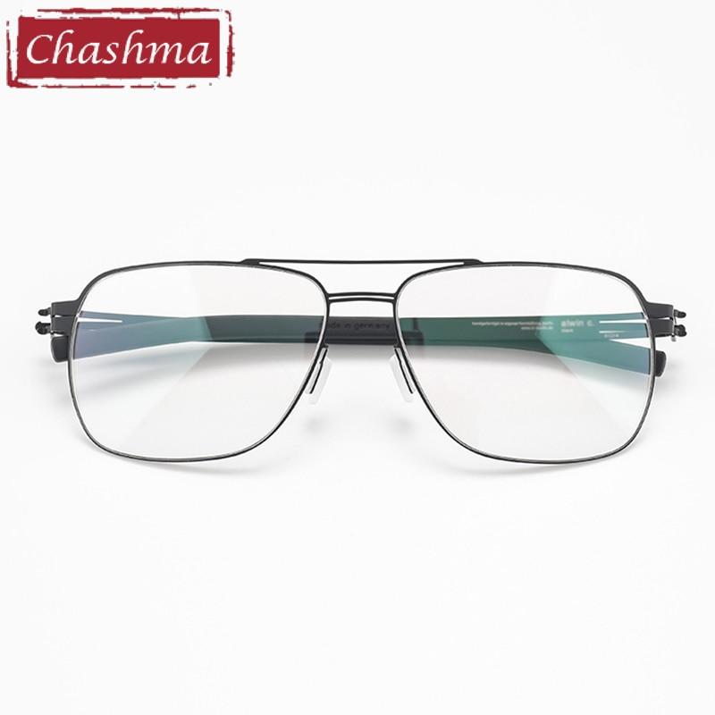Chashma الترا خفيفة الوزن مكافحة الأزرق راي وصفة النظارات الإطار سبائك التيتانيوم الرجال قصر النظر العدسات نظارات عالية الجودة