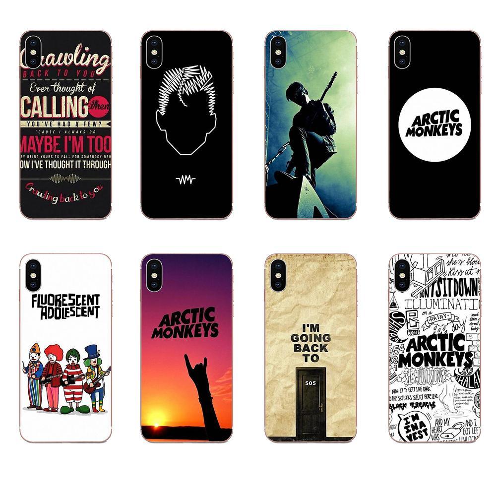 Para Xiaomi Redmi nota 2 3 3S 4 4A 4X 5 5A 6 6A Pro Plus caja del teléfono de silicona Ártico monos logotipo música cartel de banda de Rock