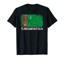 Drapeau turkmène Vintage fabriqué au turkménistan cadeau T-Shirt