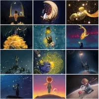 diamond painting cartoon boy moon 5d diy cross stitch kit embroidery rhinestones fantasy land pictures house decoration gifts