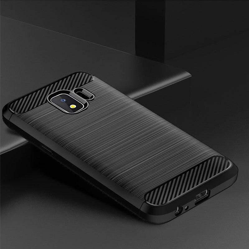 Funda para Samsung Galaxy J2 2018, carcasa de silicona TPU a prueba de golpes, funda de carbono para Samsung Galaxy J2 Pro 2018 J250 J250F
