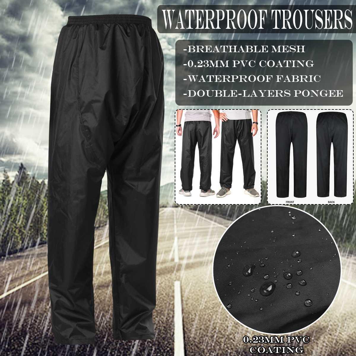Pantalones impermeables para hombre, mujer, pantalones impermeables, pantalones, pesca, motocicleta, lluvia, ropa al aire libre