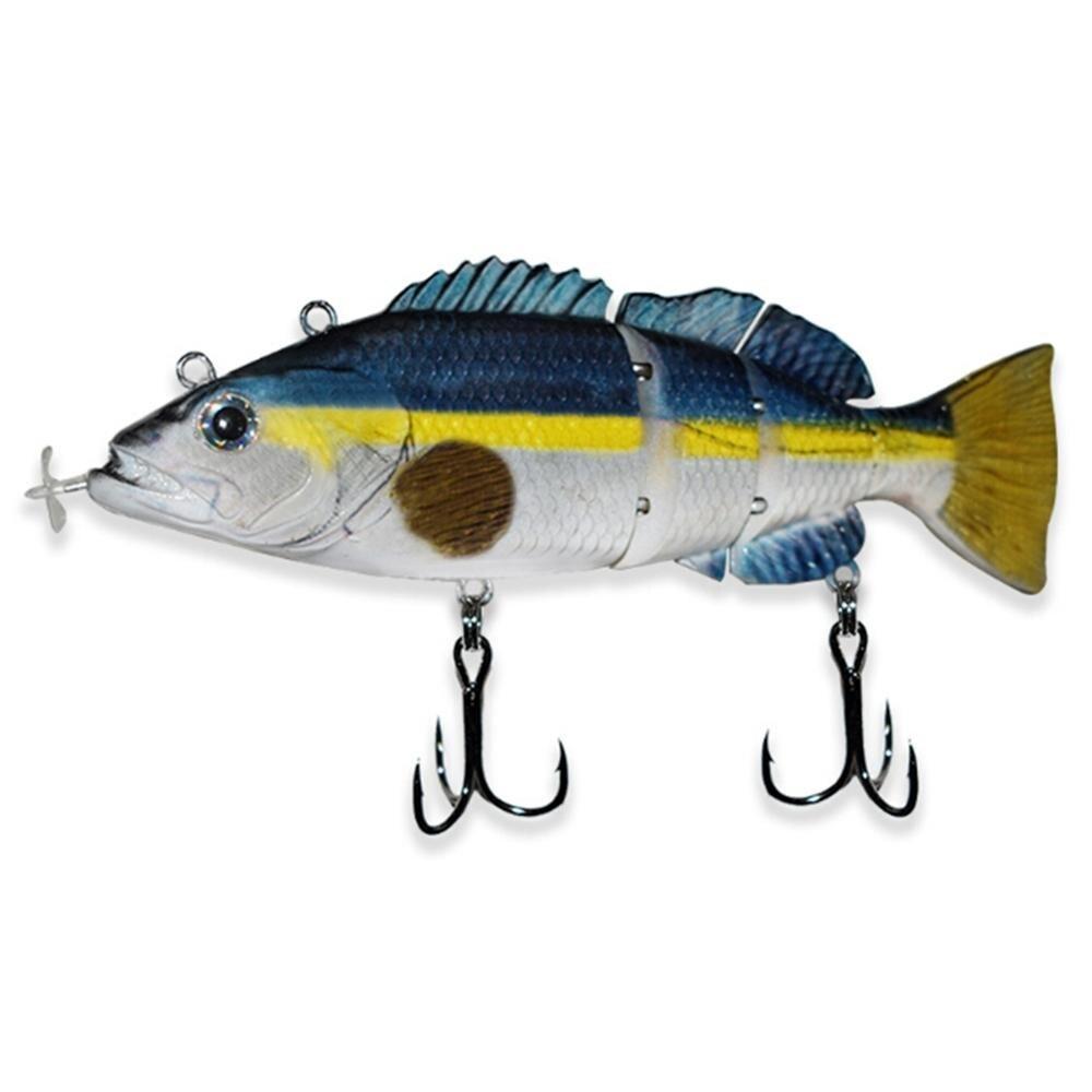 Swimbait 4 segmentos, señuelo de pesca eléctrico USB, Señuelos de Pesca, carnada recargable, luz LED para destellear, señuelo suave que brilla en la oscuridad