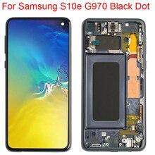 Pantalla LCD SM-G970F Original de punto pequeño para Samsung Galaxy S10e con marco Super AMOLED 2280x1080 S10e pantalla LCD parte de punto negro