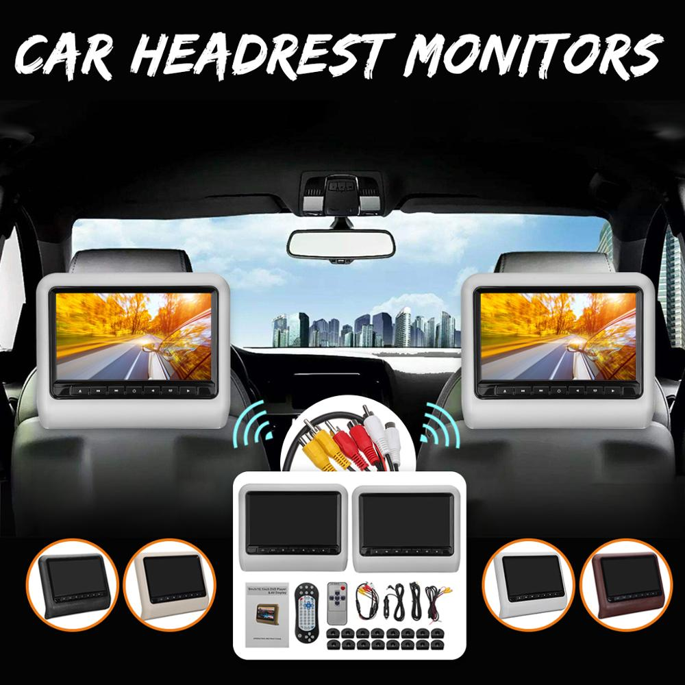 Free shipping one pair 9 inch car headrest DVD player with USB/SD,Bracket,HDMI,32 bits Game,IR,FM,HD screen,1PC DVD+1PC monitor 9 car headrest dvd video multimedia player monitor entertainment with usb sd game ir fm transmitter hd screen built in speaker