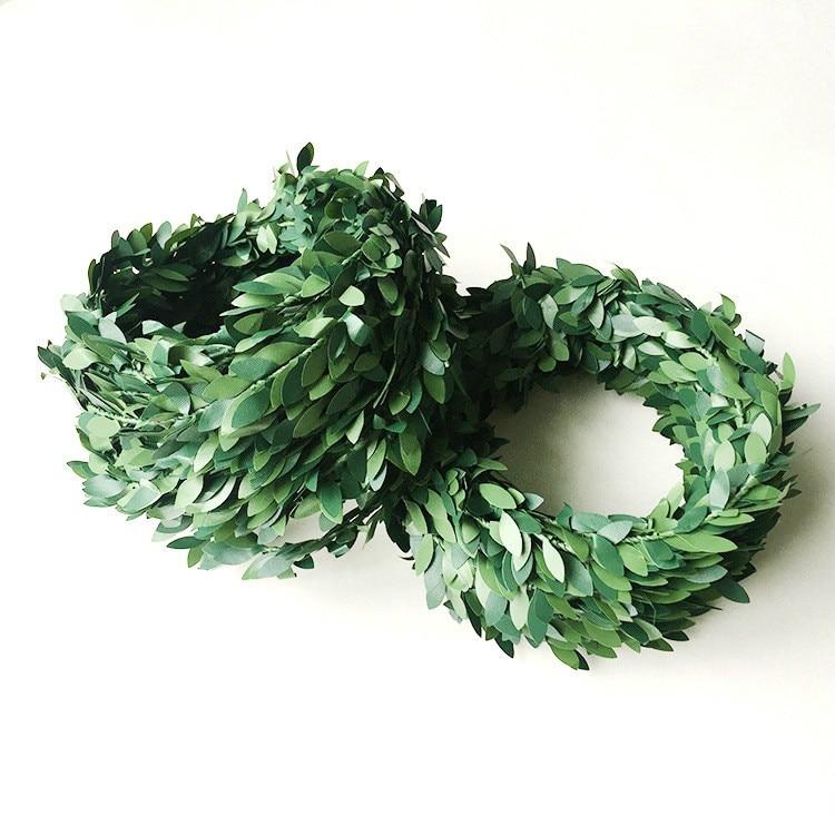 Guirnalda de Navidad material diy hoja verde alambre plástico ratán restaurante arreglo decoración del hogar Accesorios material