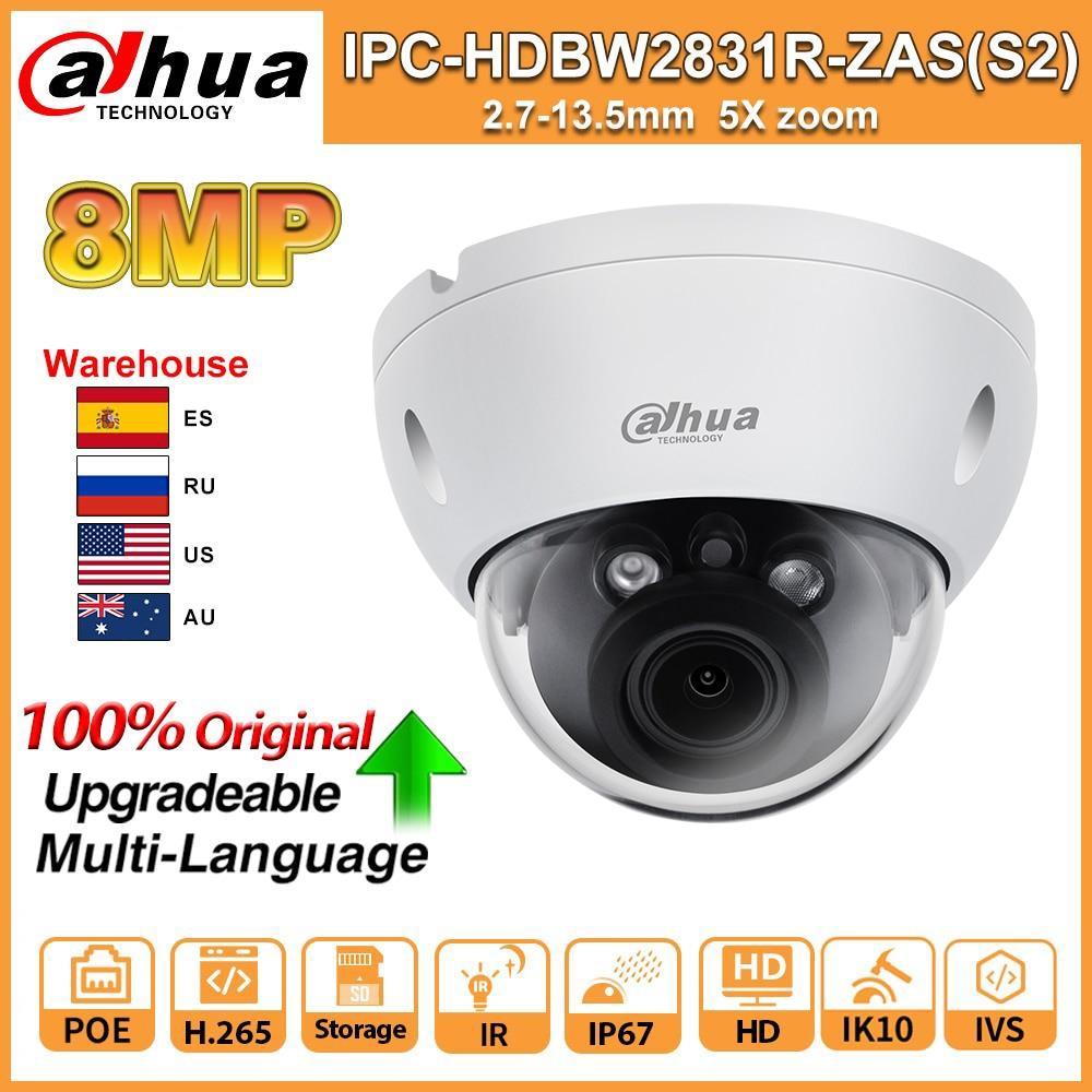 Dahua-cámara IP de red Original, 8MP, 4K, IPC-HDBW2831R-ZAS-S2, IR, 40m, H.265, IP67,...