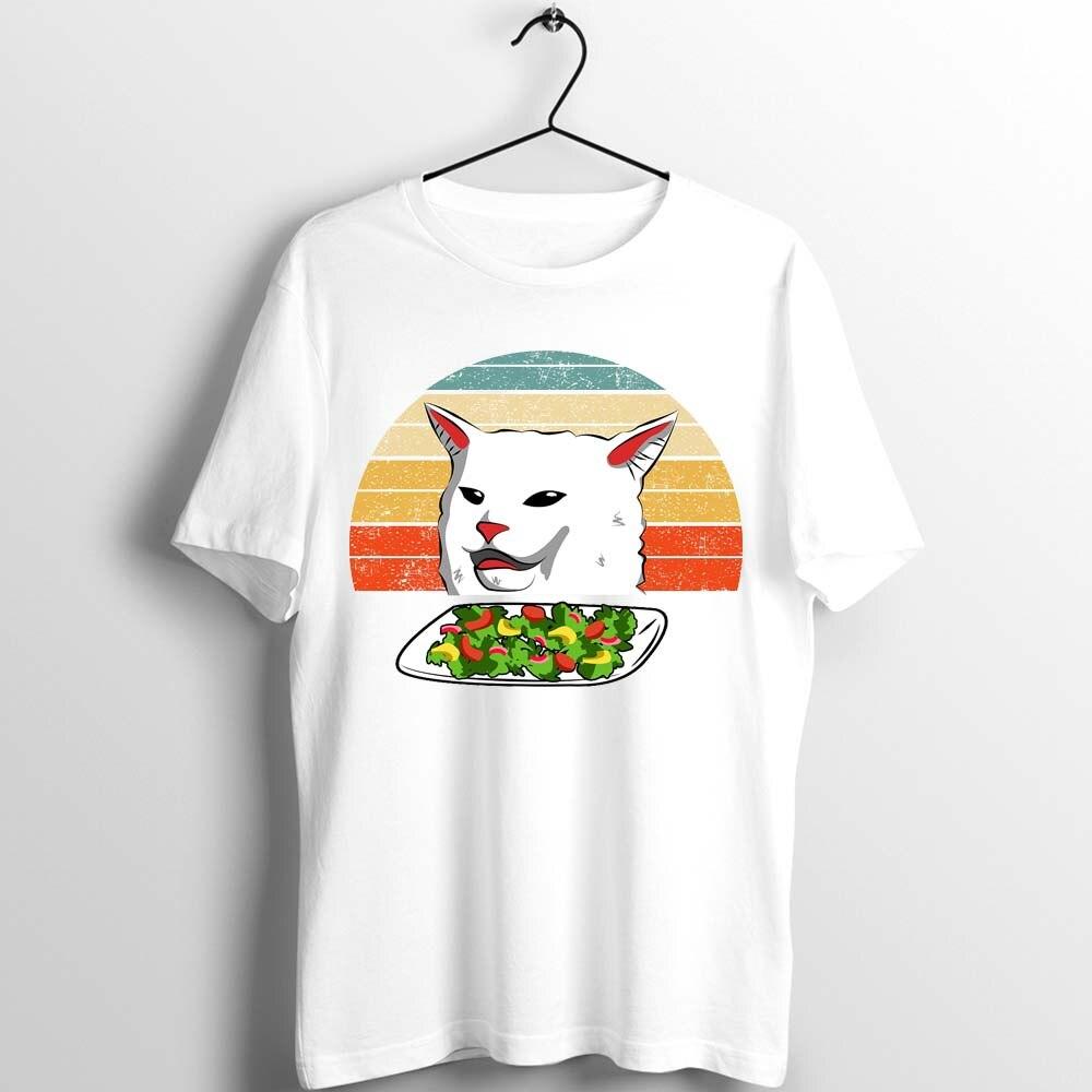 Camiseta Unisex para hombre y mujer, camiseta para Mujer del Año, camiseta para mujer con estampado de gato, camiseta con ilustraciones