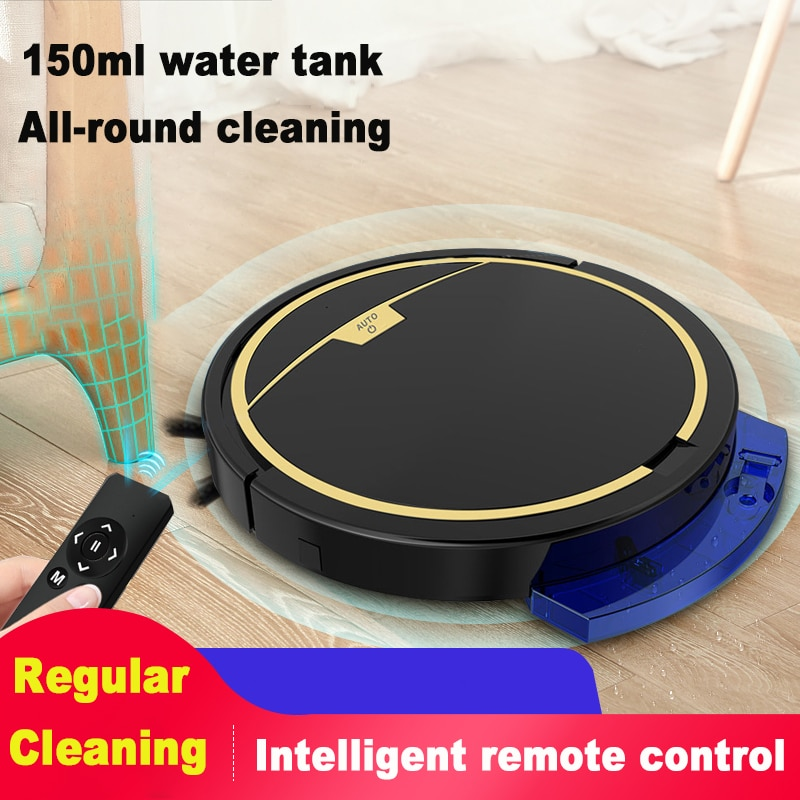 Remote Control Smart Robot Vacuum Cleaner 2800Pa Automatic Household Multifunctional Anti-drop Vacuum Cleaner with Water Tank