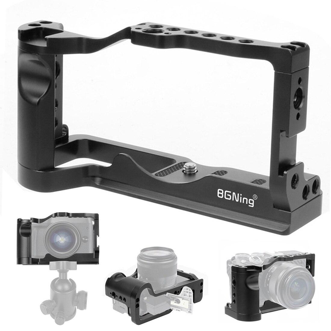 BGNing هيكل قفصي الشكل للكاميرا تلاعب لكانون M6 الثاني مع 38 مللي متر الناتو السكك الحديدية الباردة الحذاء جبل أري 1/4