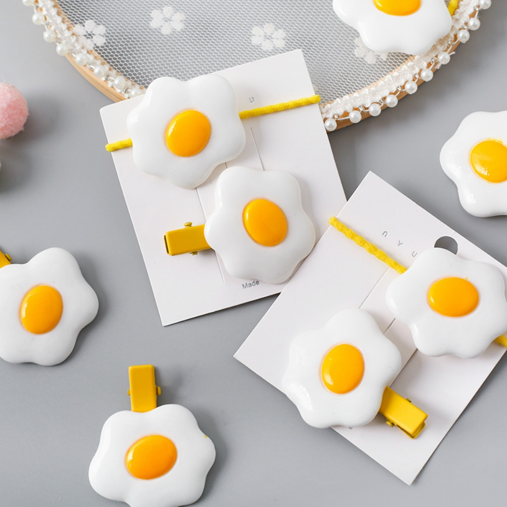 1 Juego de nuevas bandas de pelo de huevo de loto Clip de pelo de niña encantadora accesorios de pelo de horquilla para niños