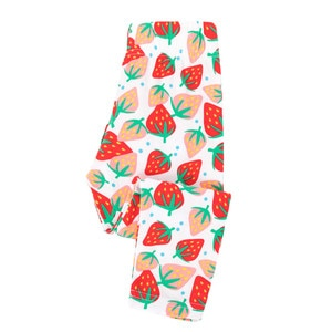 Jumping meters  Baby Girls Leggings Pant Fruits Print Strawberry Trousers Skinny Pant for Autumn Spring Kids Pencil Pants