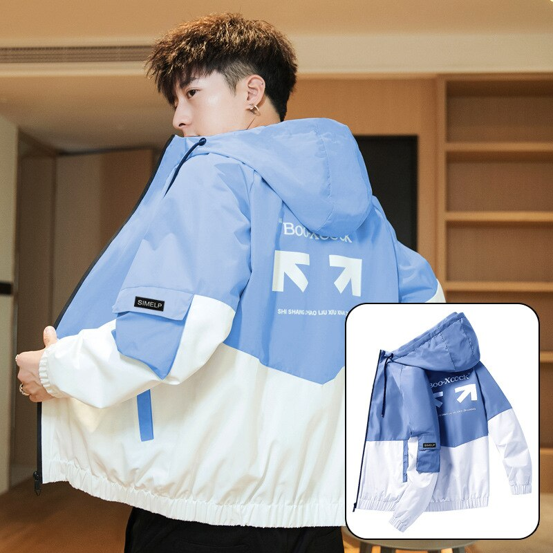 printio блокнот men s style ZOGAA 2021 New Men's Jacket Color Block Jacket For Young People Hoodie Tooling Style Cotton Top Harajuku Style Men's Streetwear
