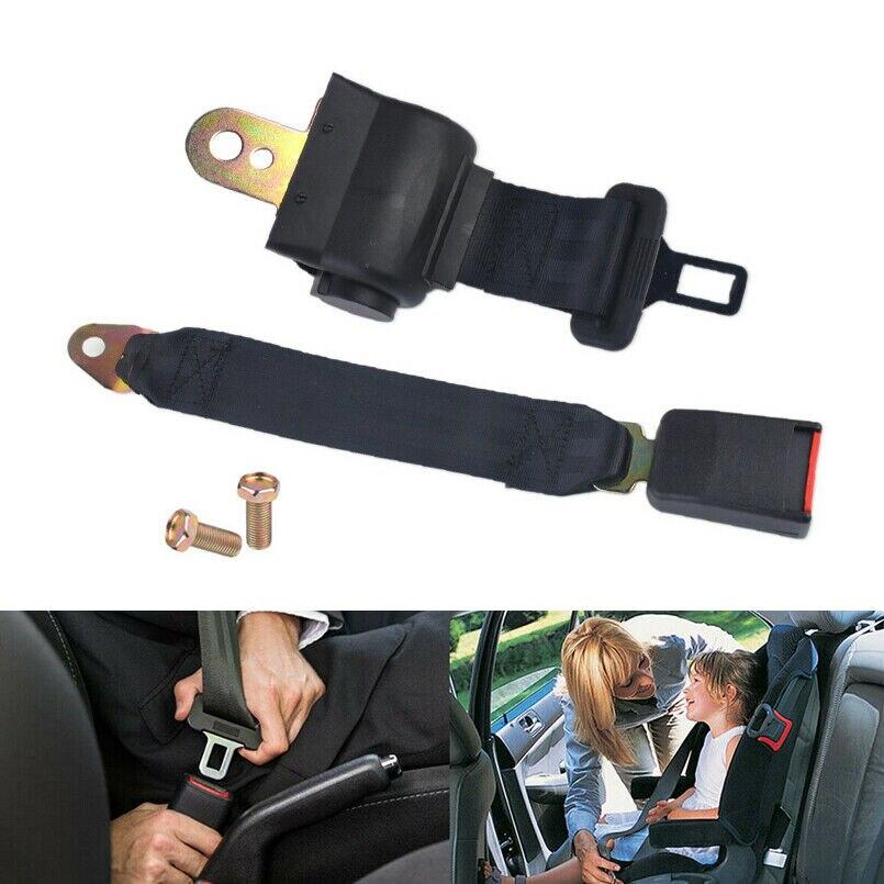 Cinturón de seguridad de asiento de coche Universal negro 2 puntos hebilla ajustable bien hecho