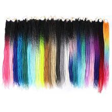 Mtmei cheveux noir gris bleu violet rose sénégalais torsion cheveux Crochet tresses 22 pouces 20 brins/paquet Ombre tressage Extensions de cheveux