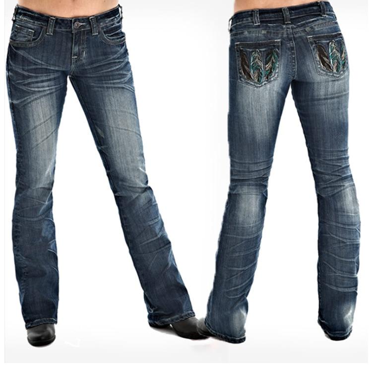 Женские джинсы с вышивкой, женские джинсовые брюки, женские джоггеры из денима