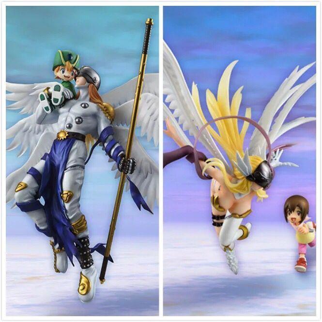 デジタルアニメモンスターフィギュアangemon angewomonアクションフィギュアデジモンウティカ模型玩具子供の誕生日プレゼント