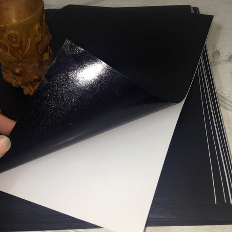 A4 impressora a jato de tinta a laser papel preto fosco auto adesivo etiqueta superfície papel material escolar escritório