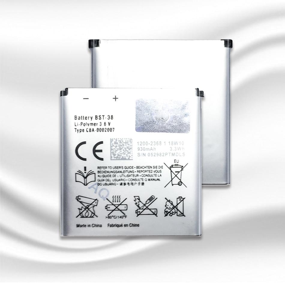 BST-38 BST 38 BST38 teléfono batería 930mAh baterías de repuesto para Sony Ericsson W580 W580i w760 T650 X10 mini Pro