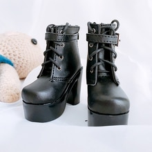MUZIWIG 1/3 BJD/SD Doll Shoes DIY Doll Accessories Black White High Heels Martin Boots Shoes For Dol