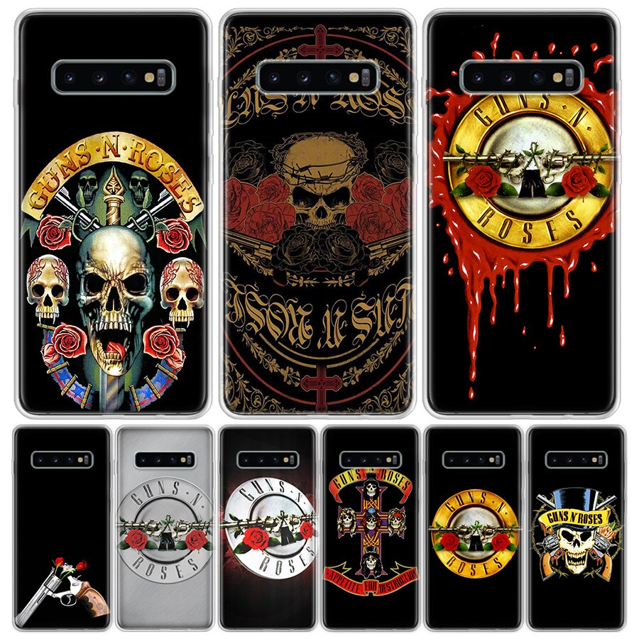 Guns n roses teléfono funda para Samsung Galaxy S20 Ultra Plus S6 S7 S8 S9 S10 NOTE8 NOTE9 NOTE10 J4 J6 J8 Plus Lite