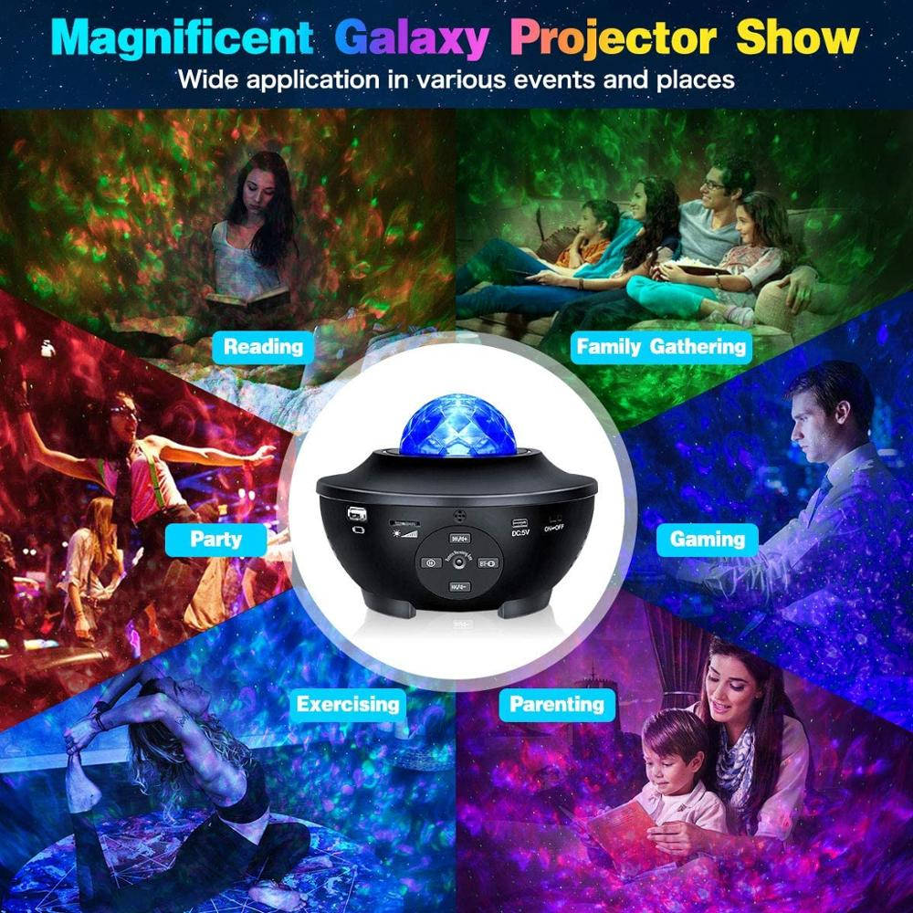 Star Projector Star Night Light LED Sky Galaxy With Remote Bluetooth Music Smart APP Work with Alexa Google Home for Baby Kid enlarge