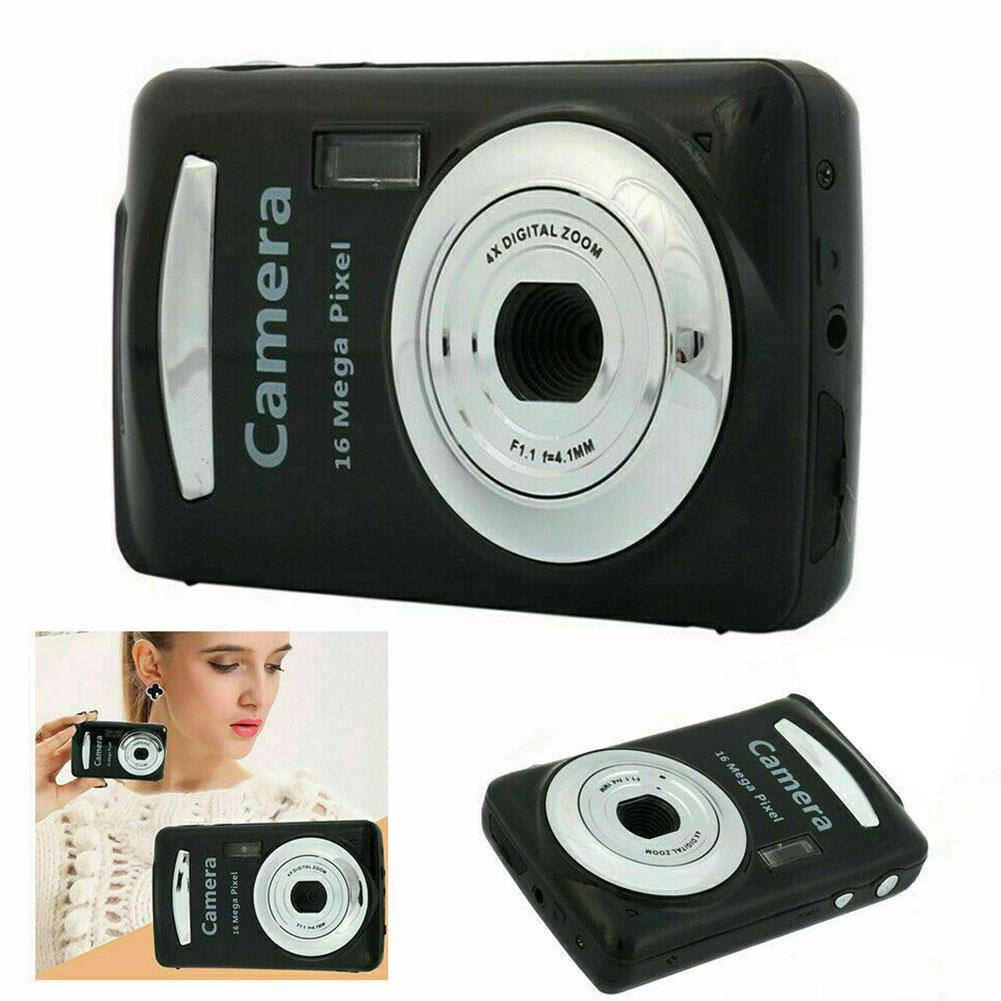 2.4 Polegada preto mini tft lcd portátil ultralight digital câmera handheld prático 16 megapixels alimentado por bateria de alta definição