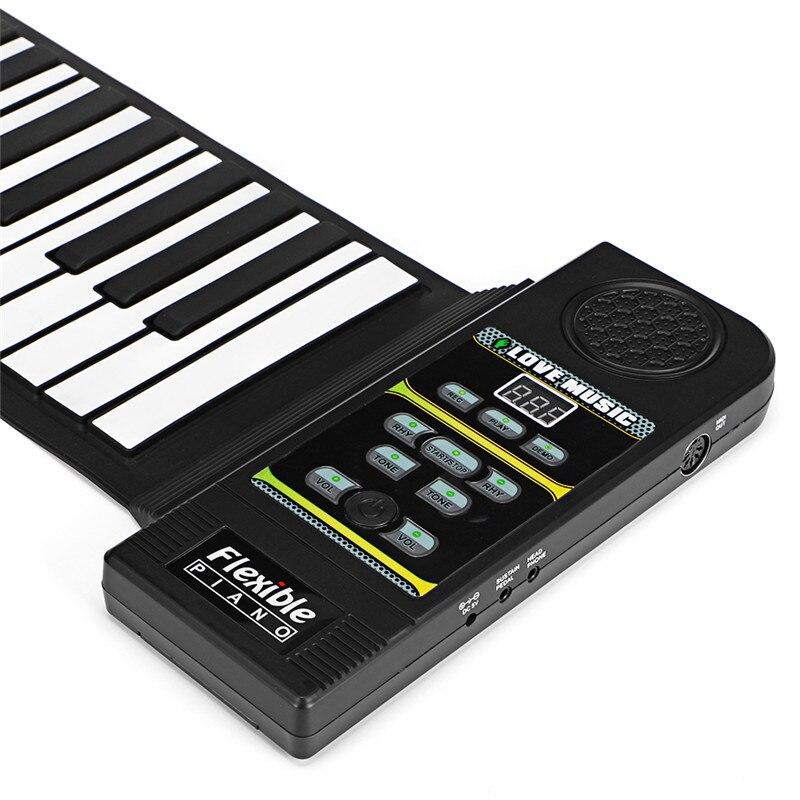 88 مفاتيح قياسية قابلة للطي لوحة المفاتيح الإلكترونية المحمولة نشمر البيانو الموسيقية هدية عيد الميلاد عيد الميلاد للمبتدئين الكبار عاشق